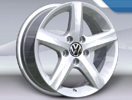 "Aspen Alloy Wheel - 16"" Brilliant Silver"
